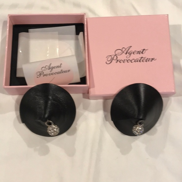 AGENT PROVOCATEUR TASSLED SEQUINED PASTIES PINK BLACK BRAND NEW ONESIZE